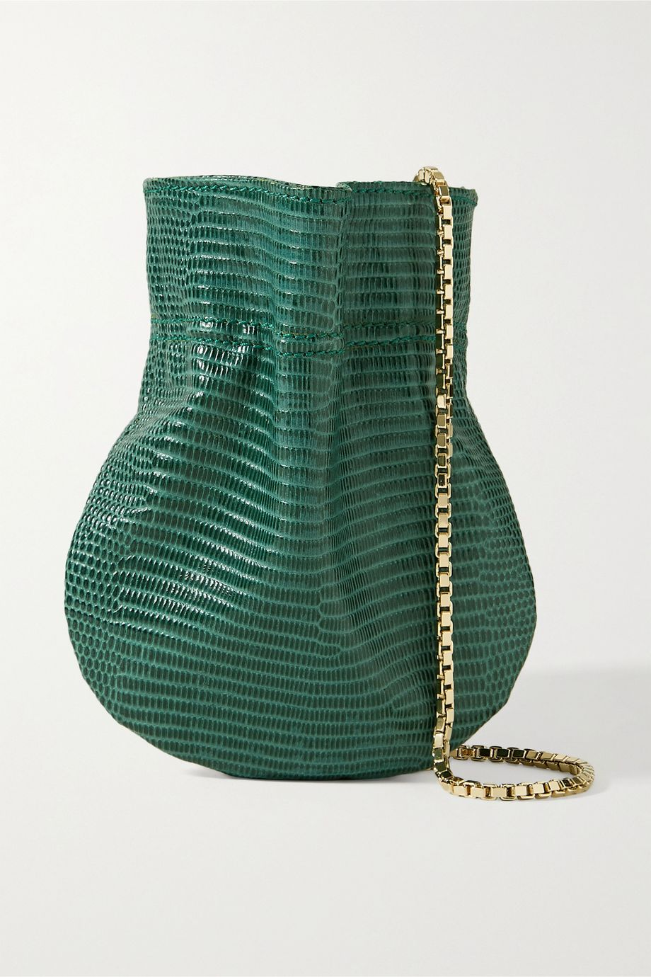 TL-180 Le Mini Fazzoletto lizard-effect leather shoulder bag