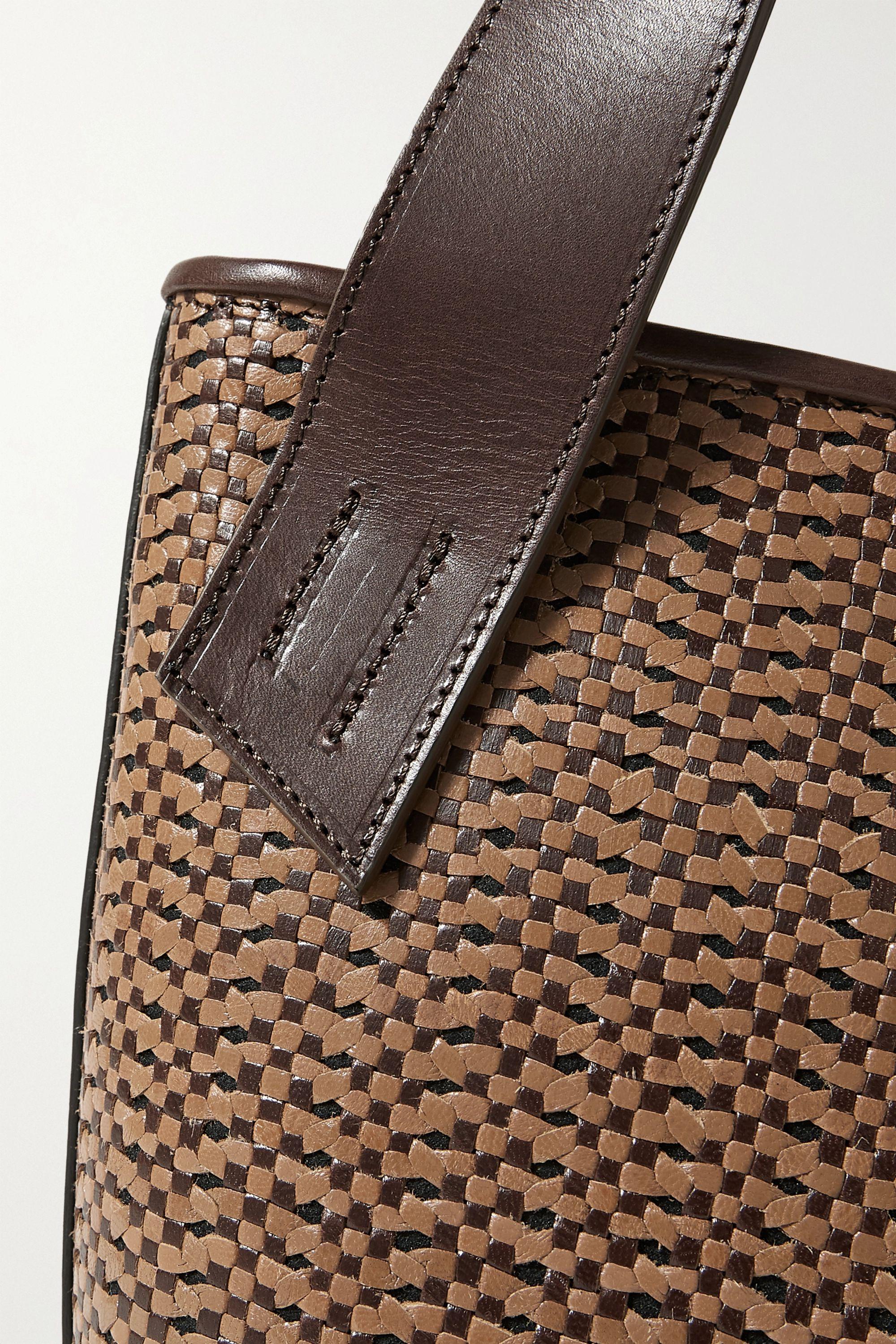 TL-180 Panier Saigon woven leather shoulder bag