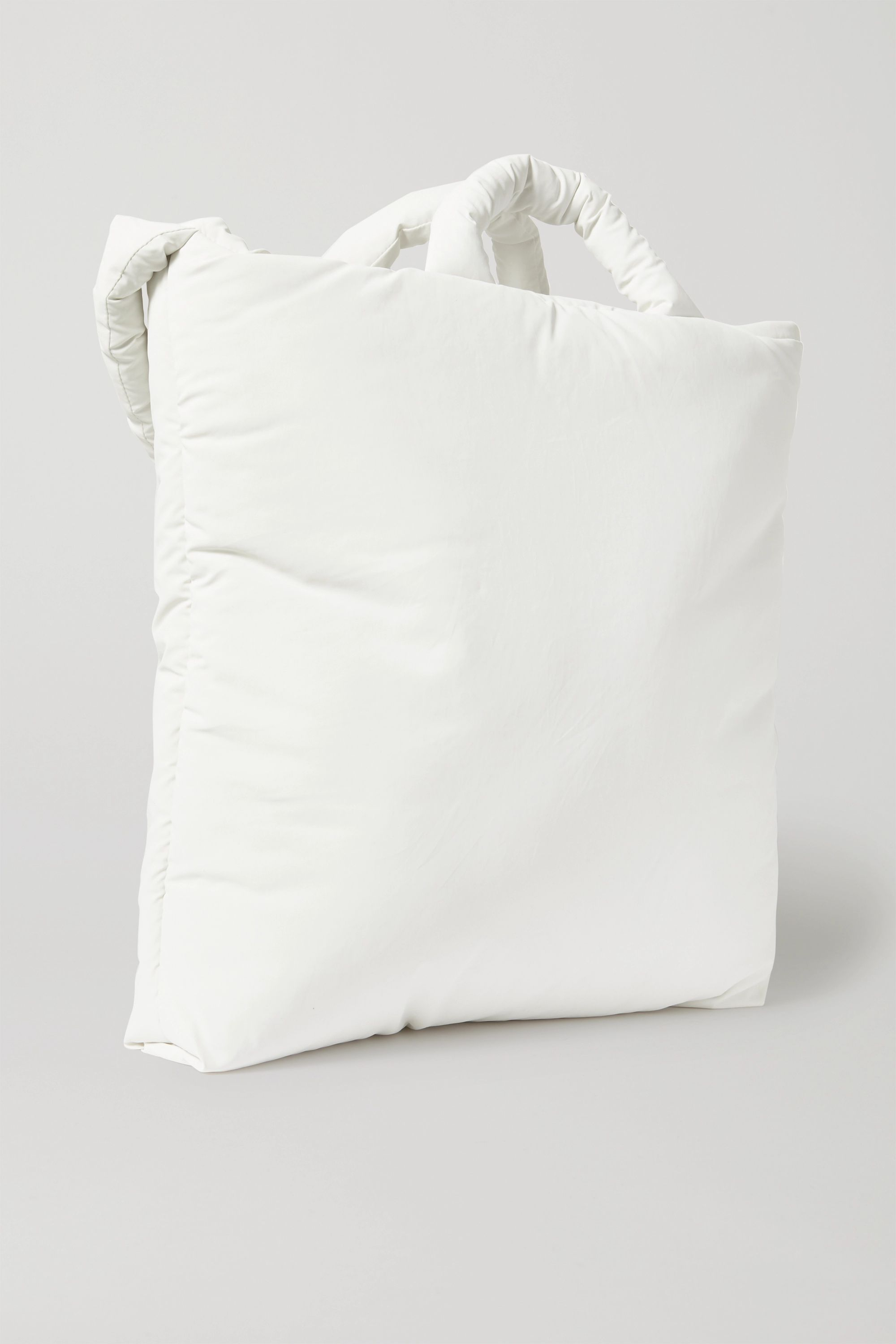 Kassl Editions Padded coated cotton-blend tote