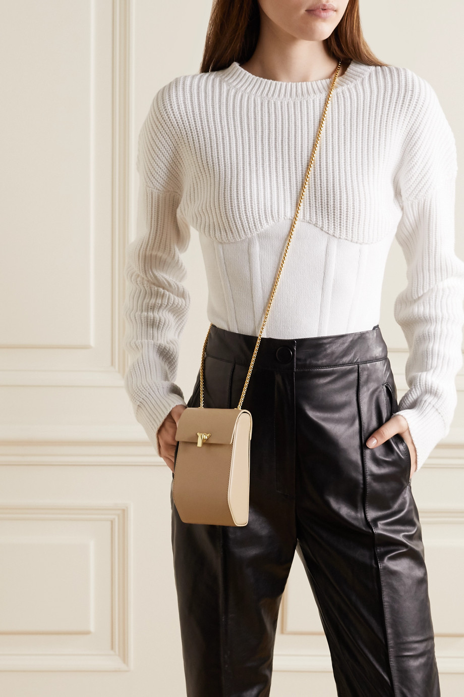 THE VOLON Leather shoulder bag
