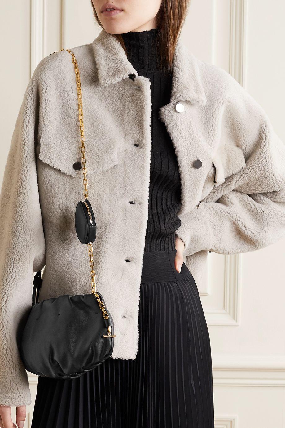 THE VOLON Gabi leather shoulder bag