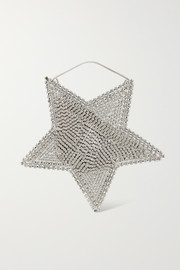 Rosantica Cielo crystal-embellished silver-tone tote