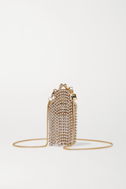 Rosantica Orfea mini fringed crystal-embellished gold-tone shoulder bag