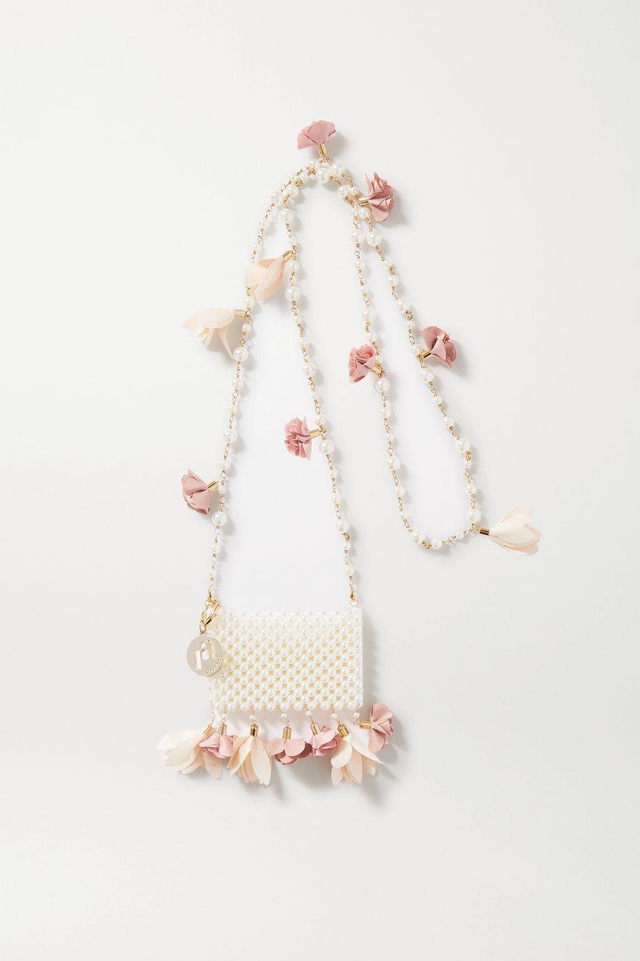 Rosantica Calendula embellished gold-tone and faux pearl shoulder bag