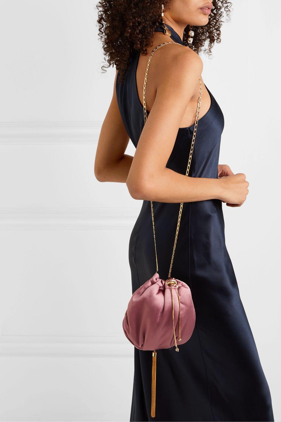 Rosantica Fatale tasseled satin shoulder bag