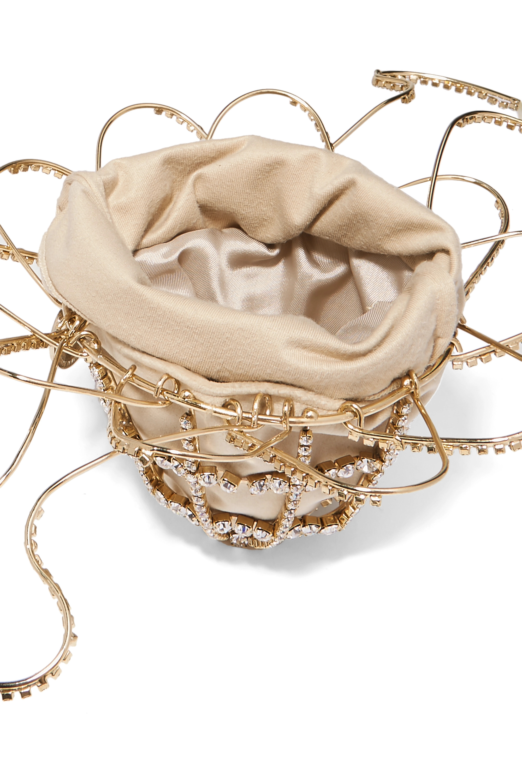 Rosantica Ginestra embellished gold-tone and velvet tote