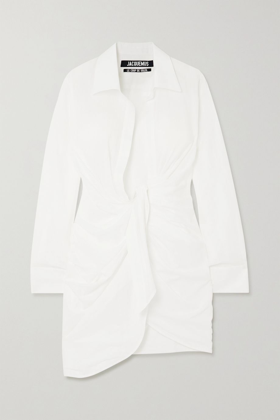 Jacquemus Bahia gathered cotton mini dress