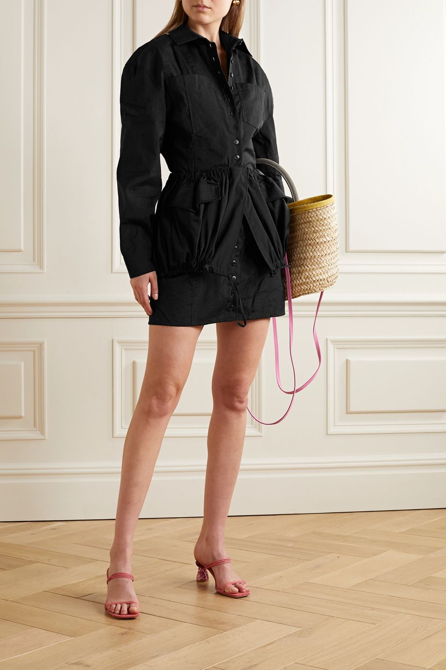 Jacquemus Cueillette layered taffeta mini dress