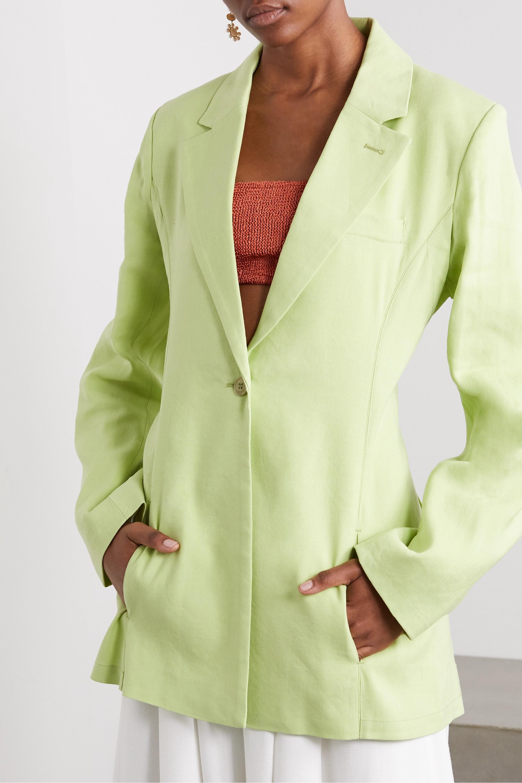 Jacquemus Tablier hemp-blend blazer