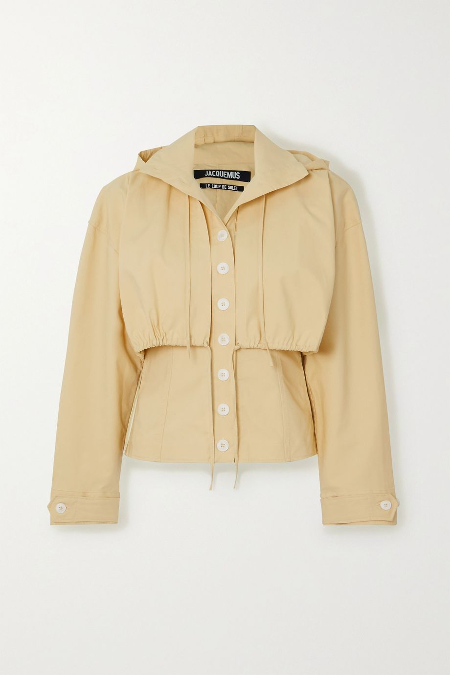 Jacquemus Mimosa gathered cotton-poplin hooded jacket