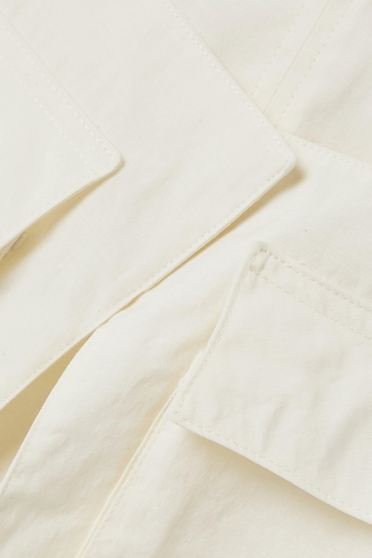 Jacquemus Ascea layered open-back poplin top