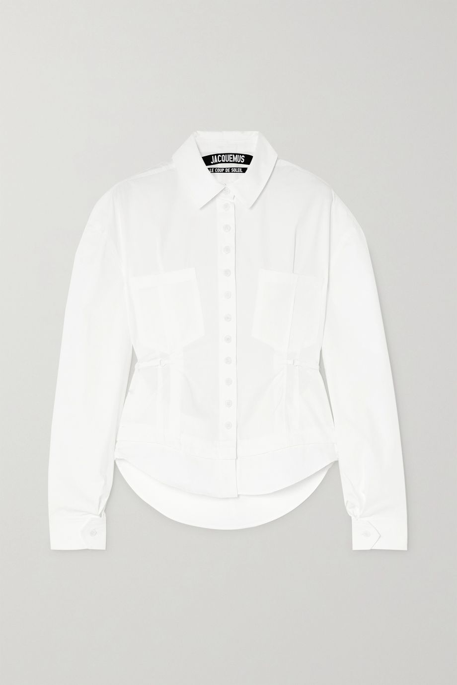Jacquemus Cueillette tie-detailed cutout cotton-poplin shirt