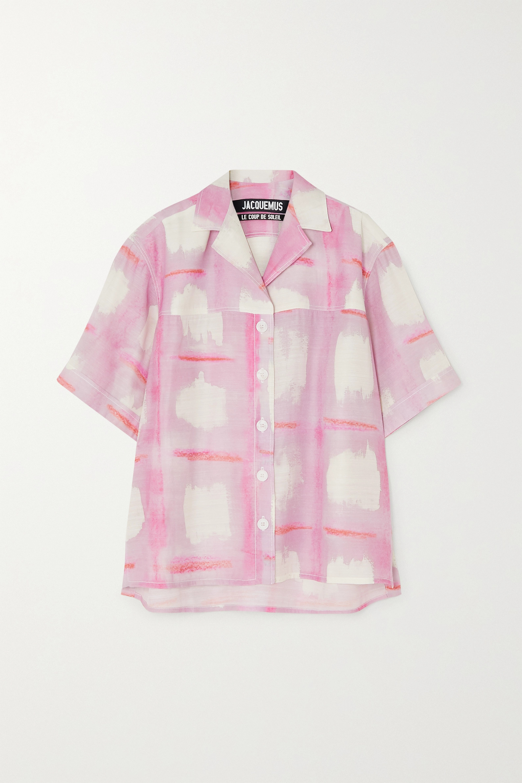 Jacquemus Vallena printed woven shirt