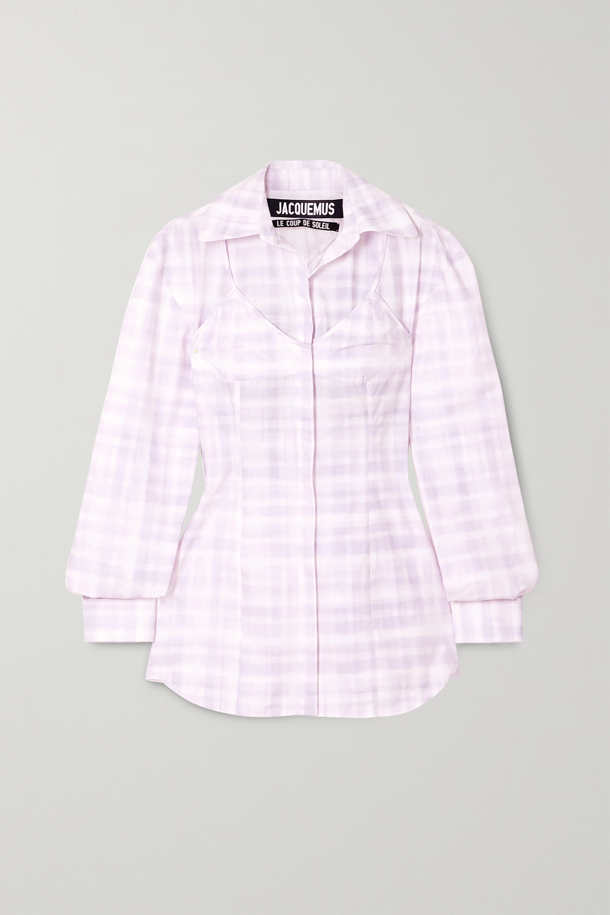 Jacquemus Valensole cutout checked cotton shirt