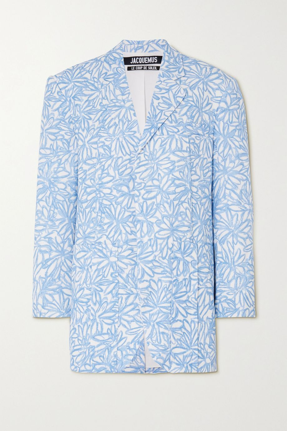 Jacquemus Oversized floral-print woven blazer