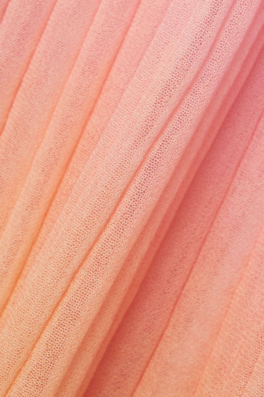 Jacquemus Helado Longue pleated ombré cotton-blend maxi skirt
