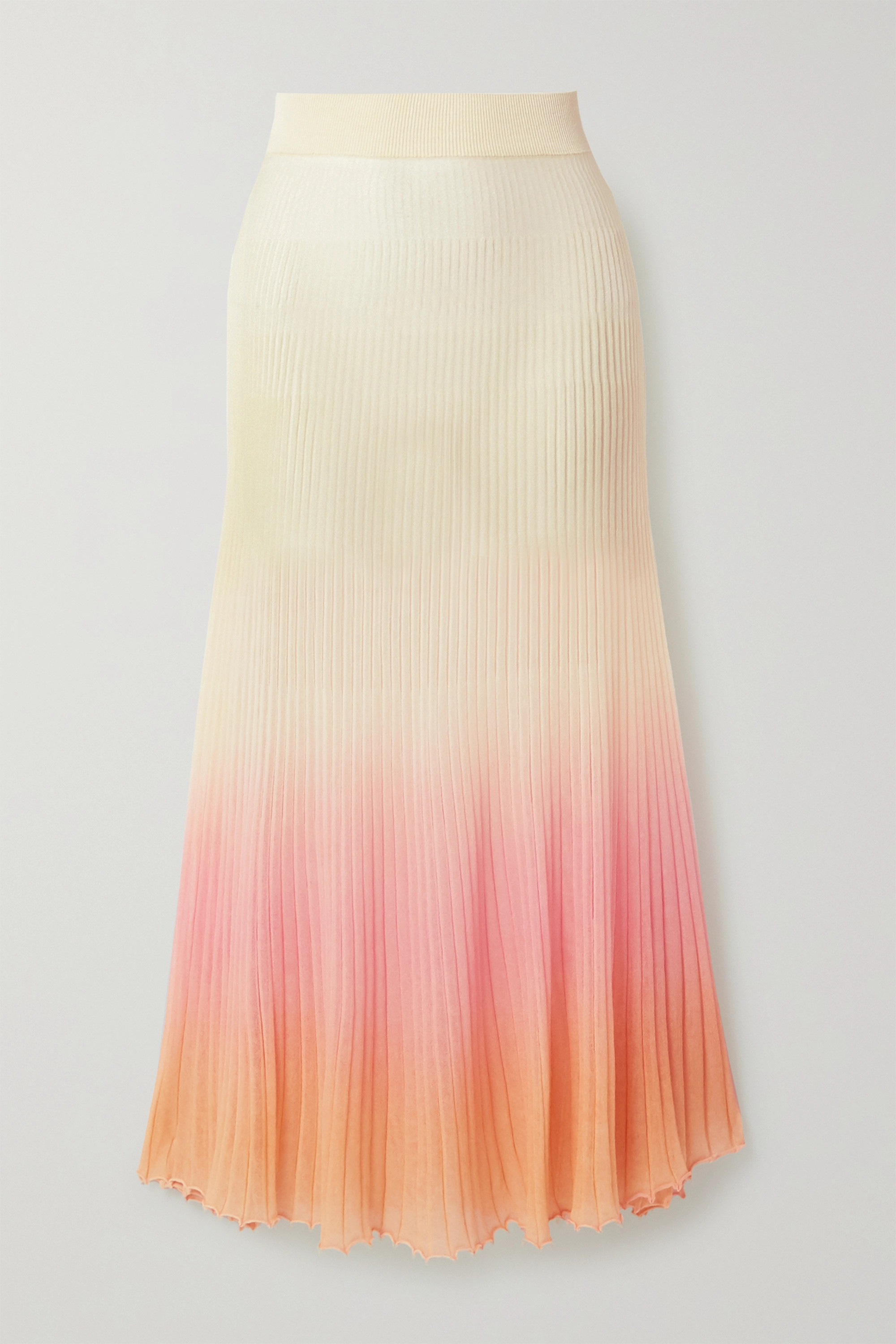 Jacquemus Jupe longue plissée en coton mélangé ombré Helado Longue