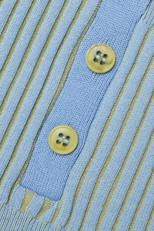 Jacquemus Yauco two-tone ribbed-knit bodysuit