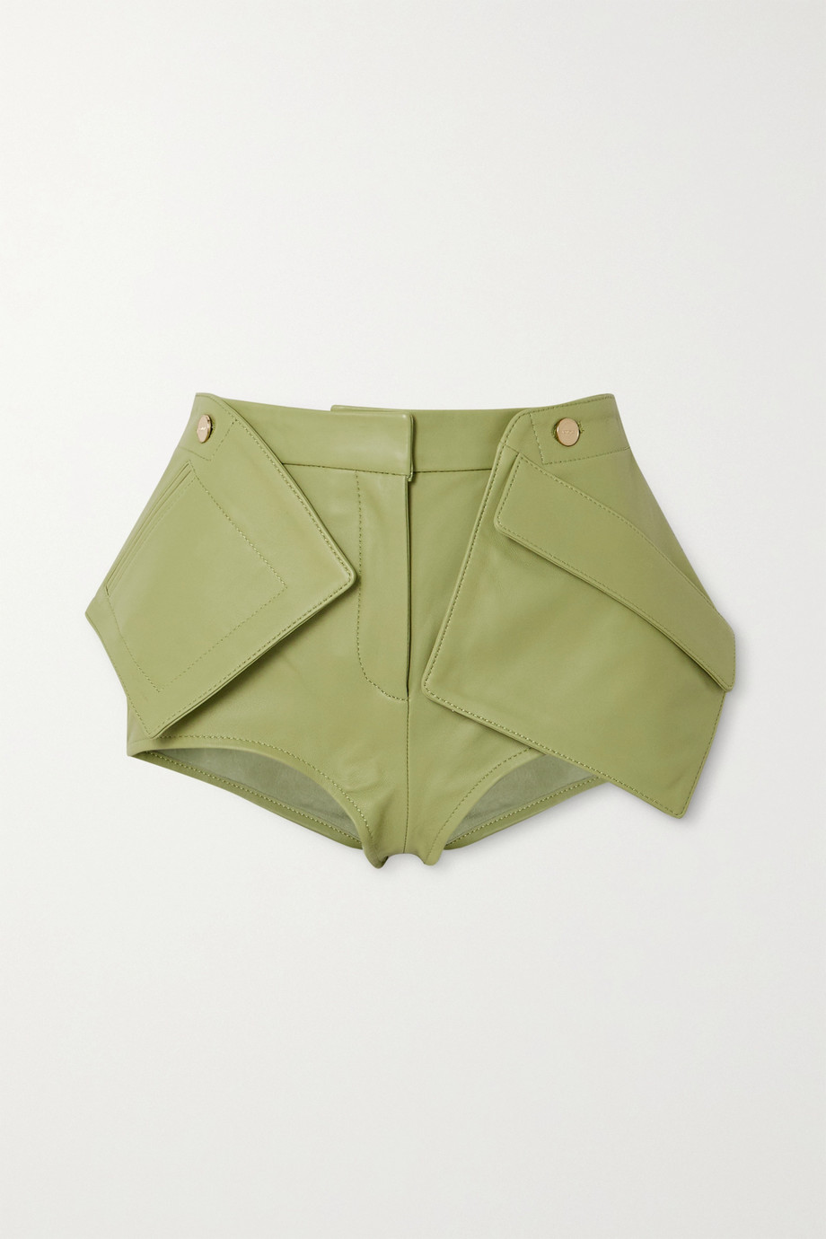 Jacquemus Le Short Boca paneled leather shorts