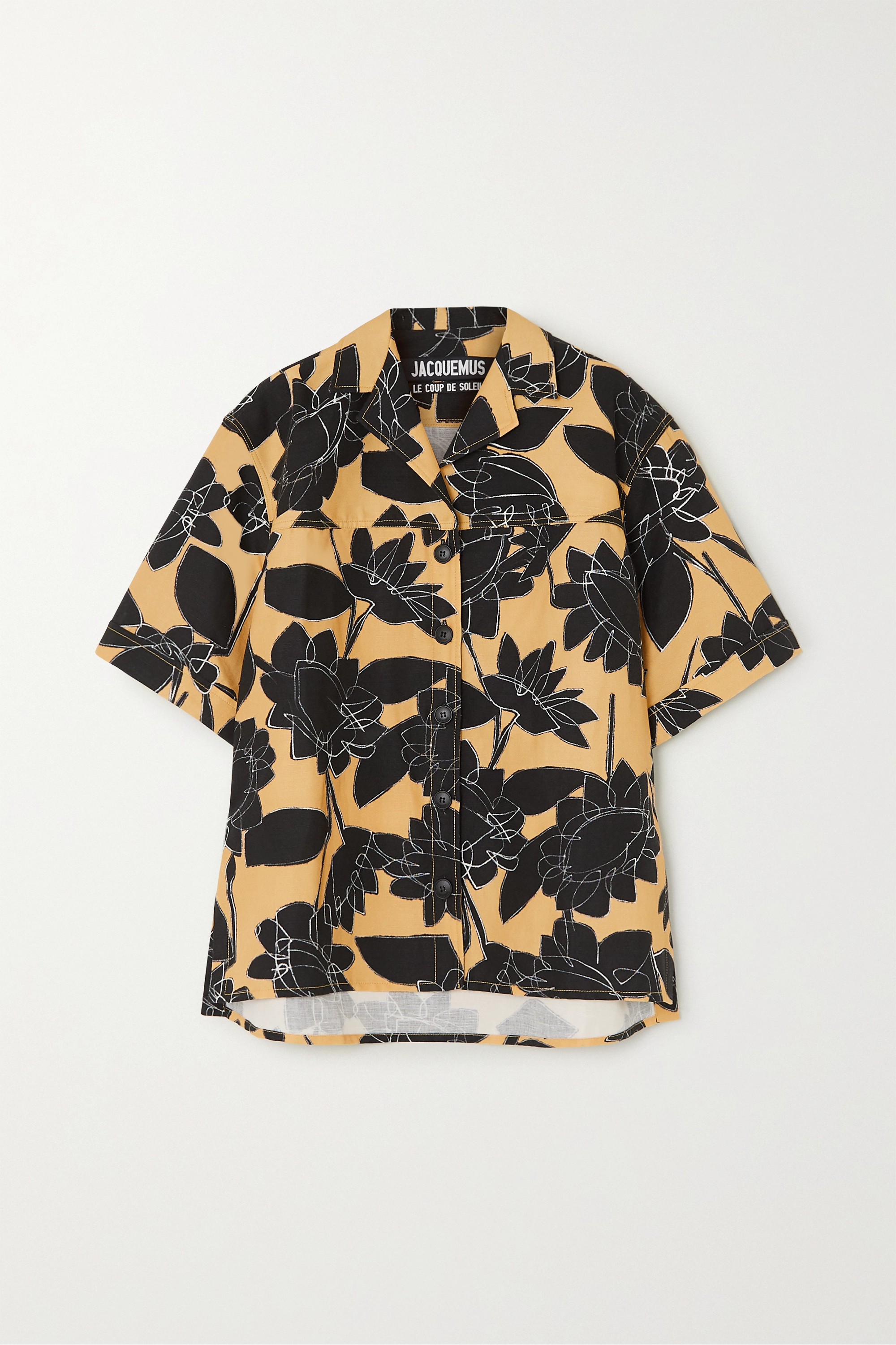 Jacquemus Vallena printed linen and cotton-blend shirt