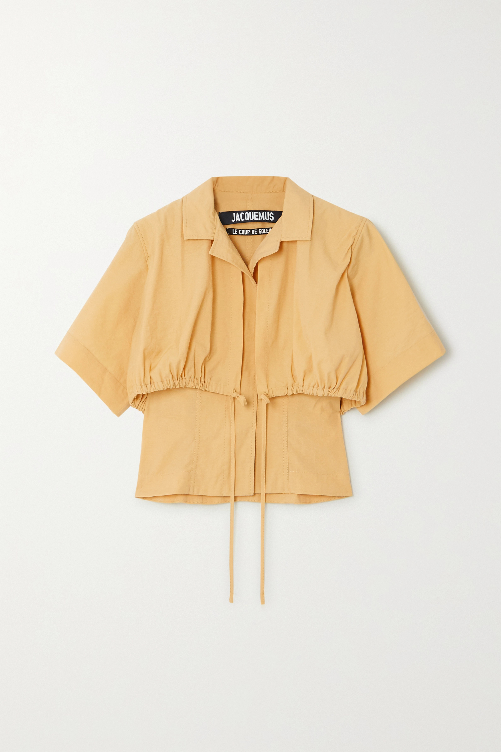 Jacquemus Mimosa gathered poplin top