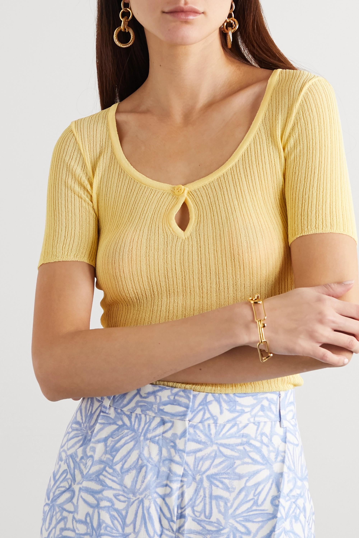 Jacquemus Loiza ribbed-knit top
