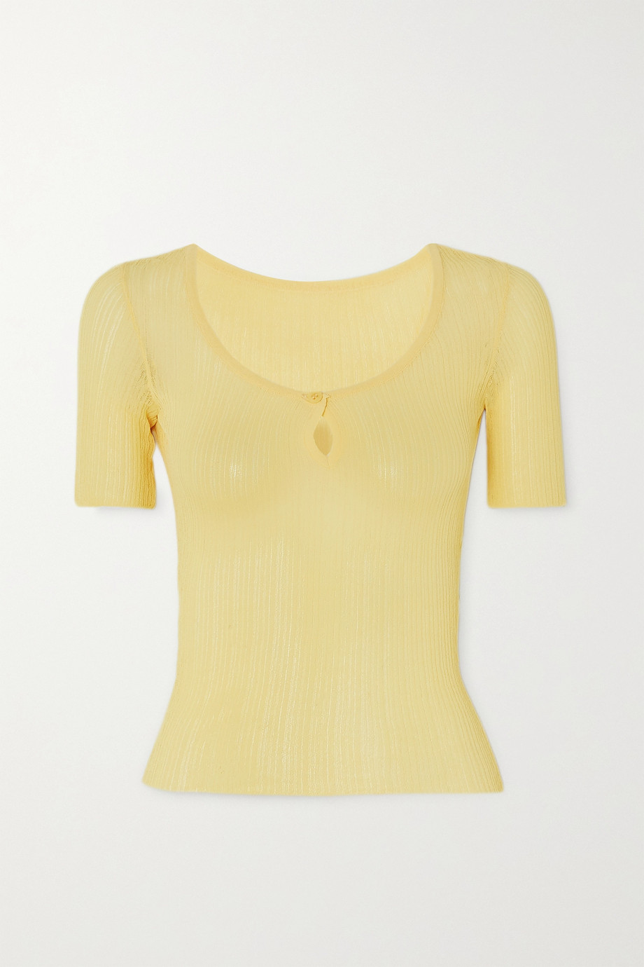Jacquemus Loiza ribbed-knit top