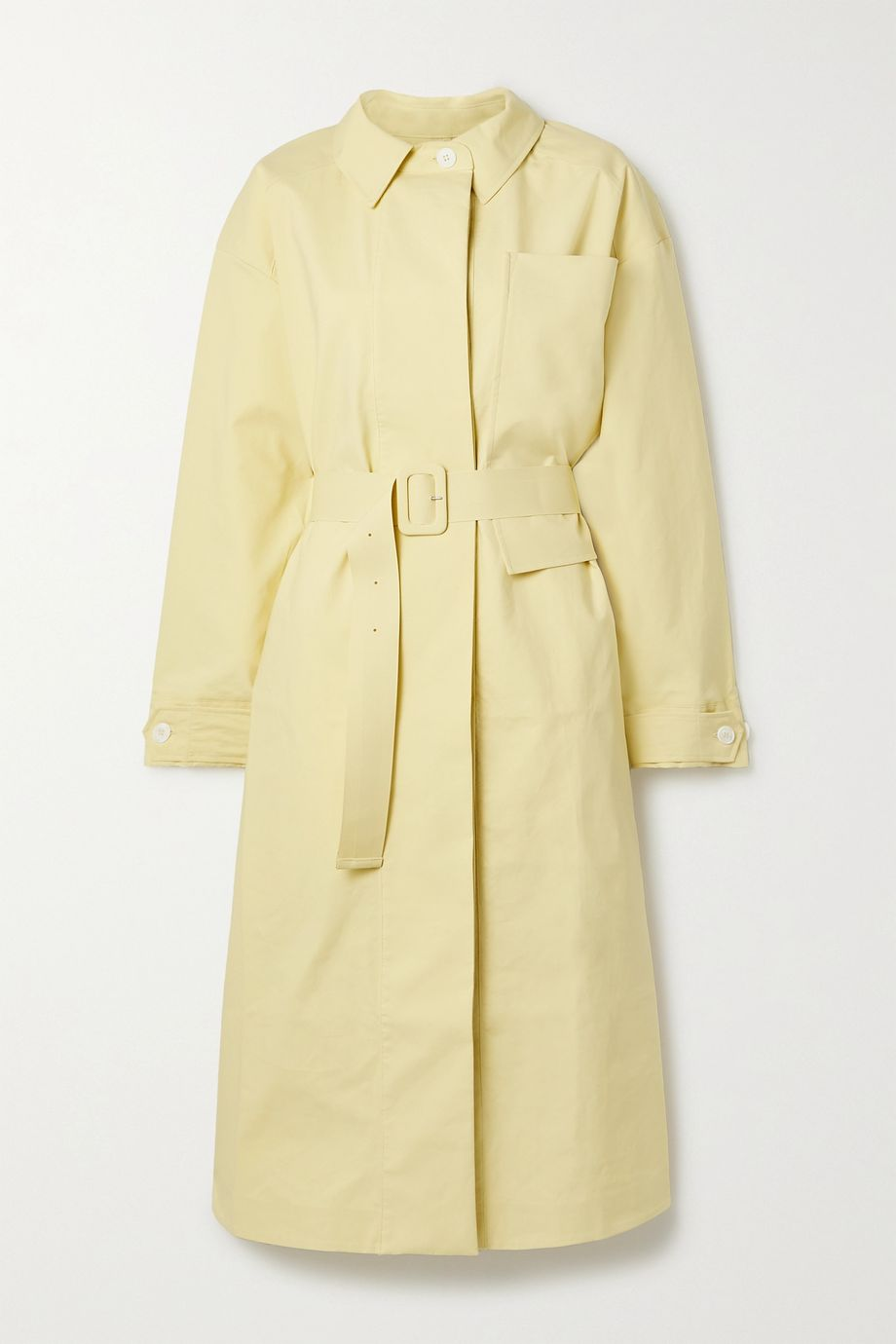 Jacquemus Camiseto belted cotton trench coat
