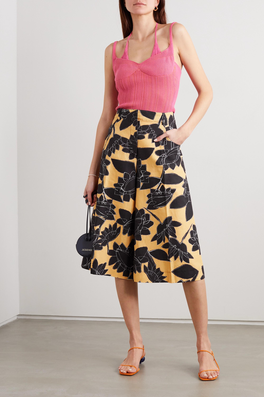 Jacquemus D'Homme floral-print linen and cotton-blend shorts