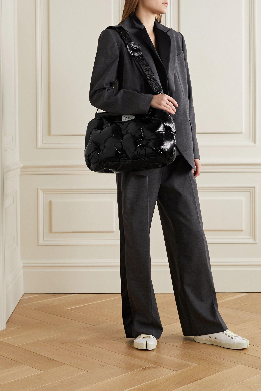 Maison Margiela Pillow quilted crinkled glossed-leather shoulder bag
