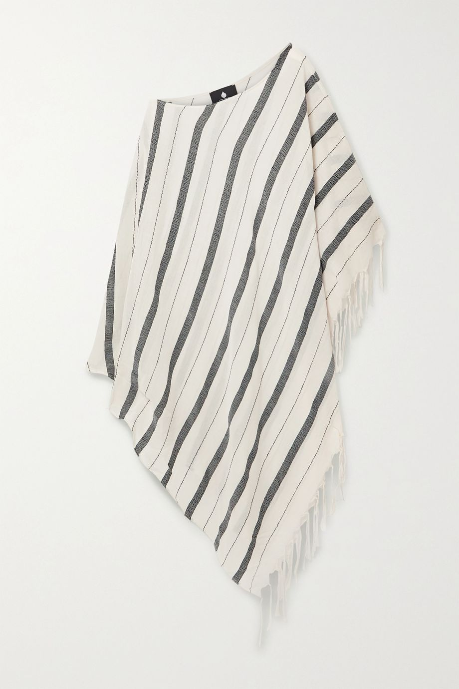 SU Paris Samana fringed striped cotton-gauze kaftan