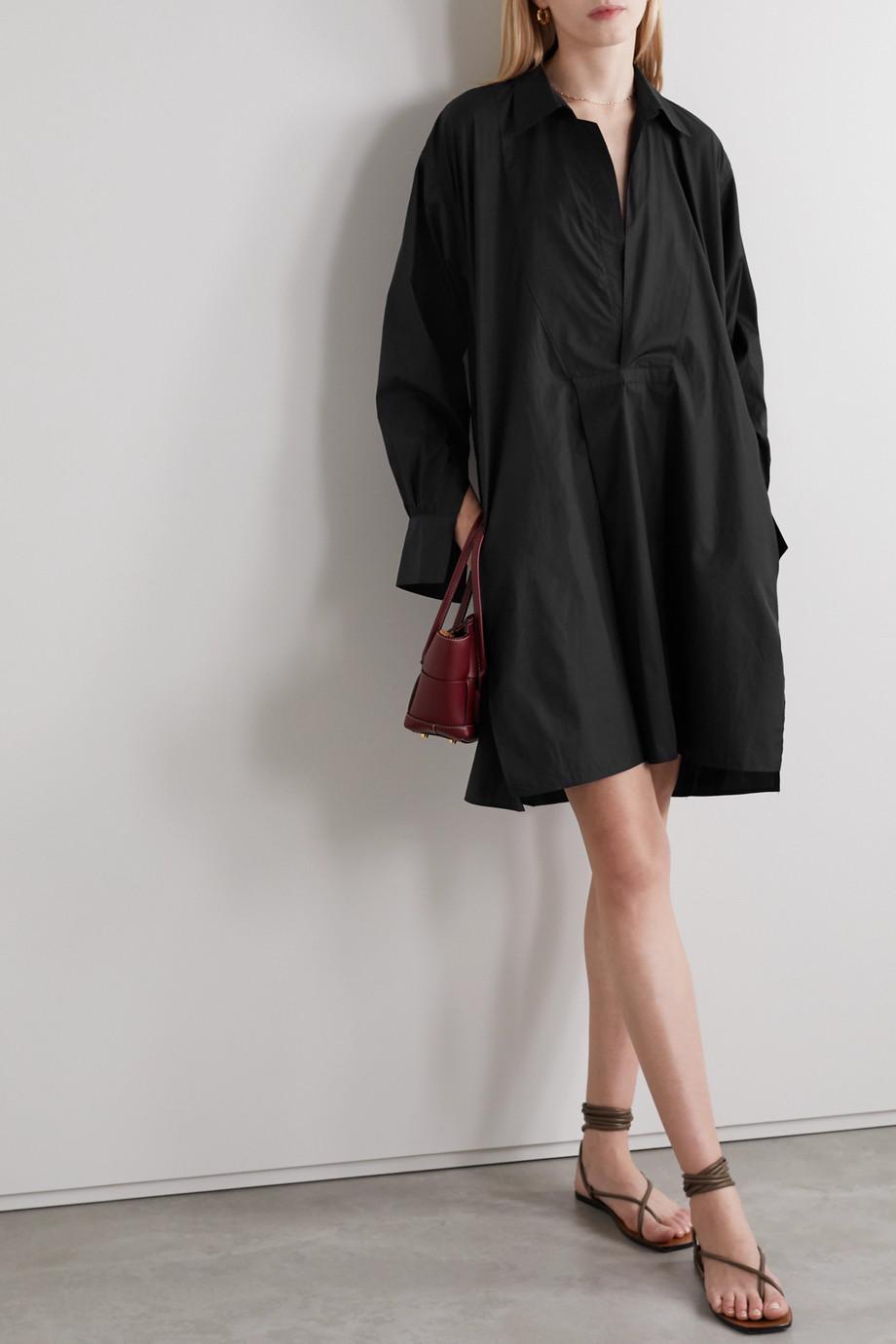 SU Paris Popi cotton-poplin mini dress