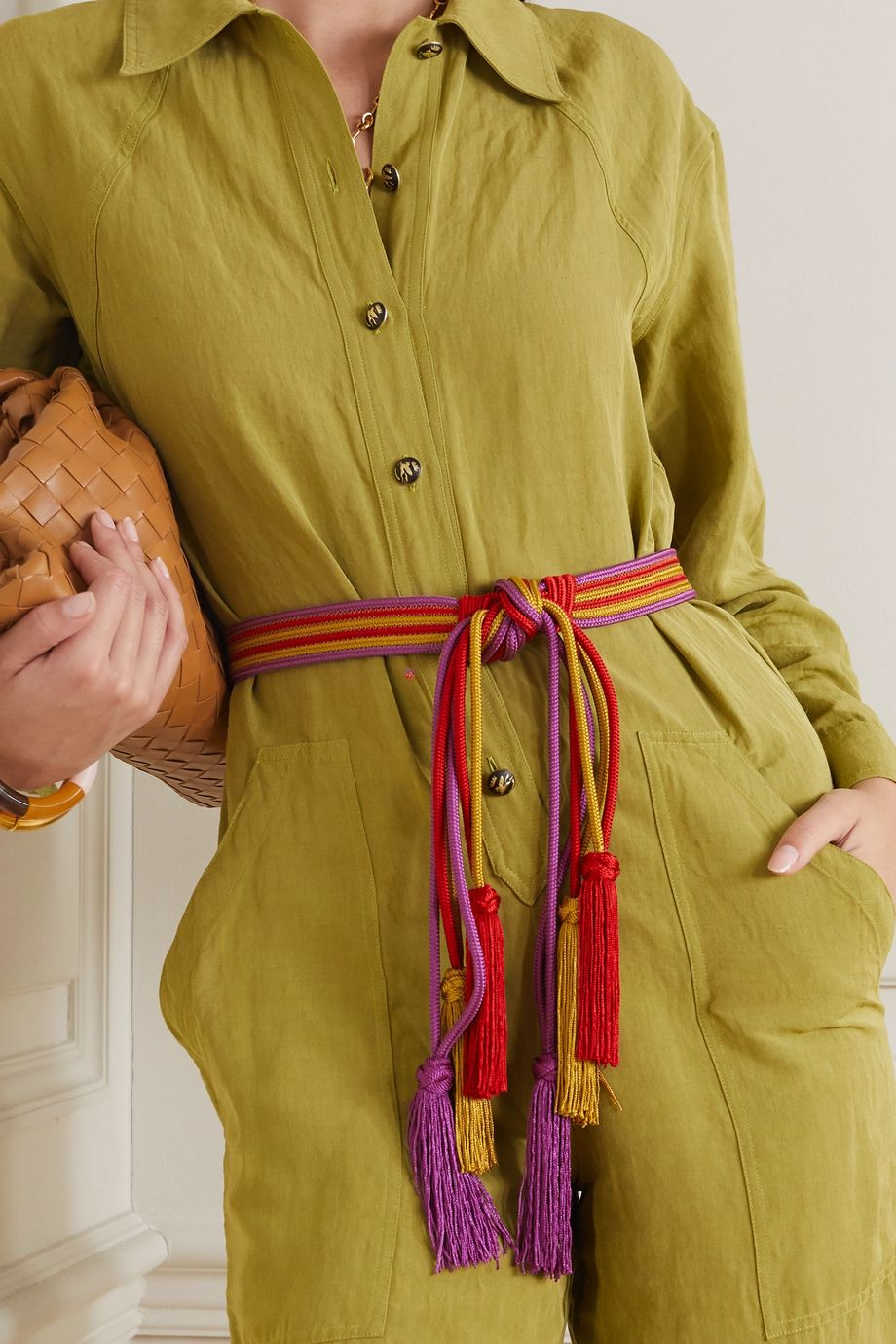 Etro Tasseled braided cord belt