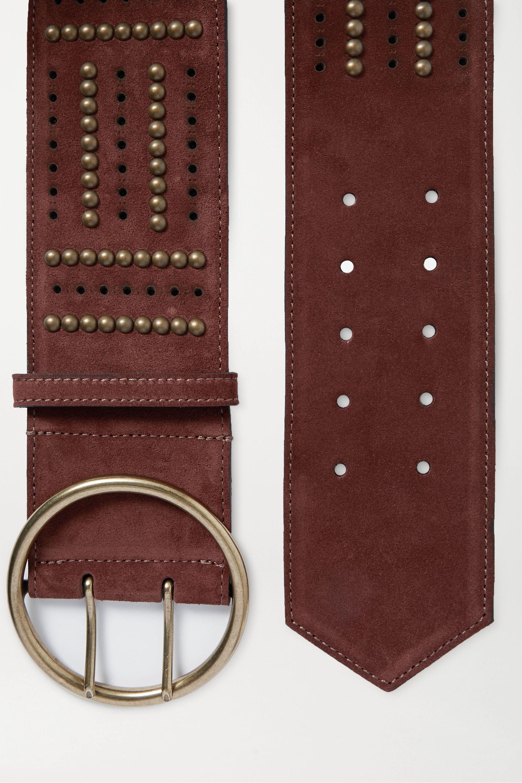 Etro Studded suede waist belt