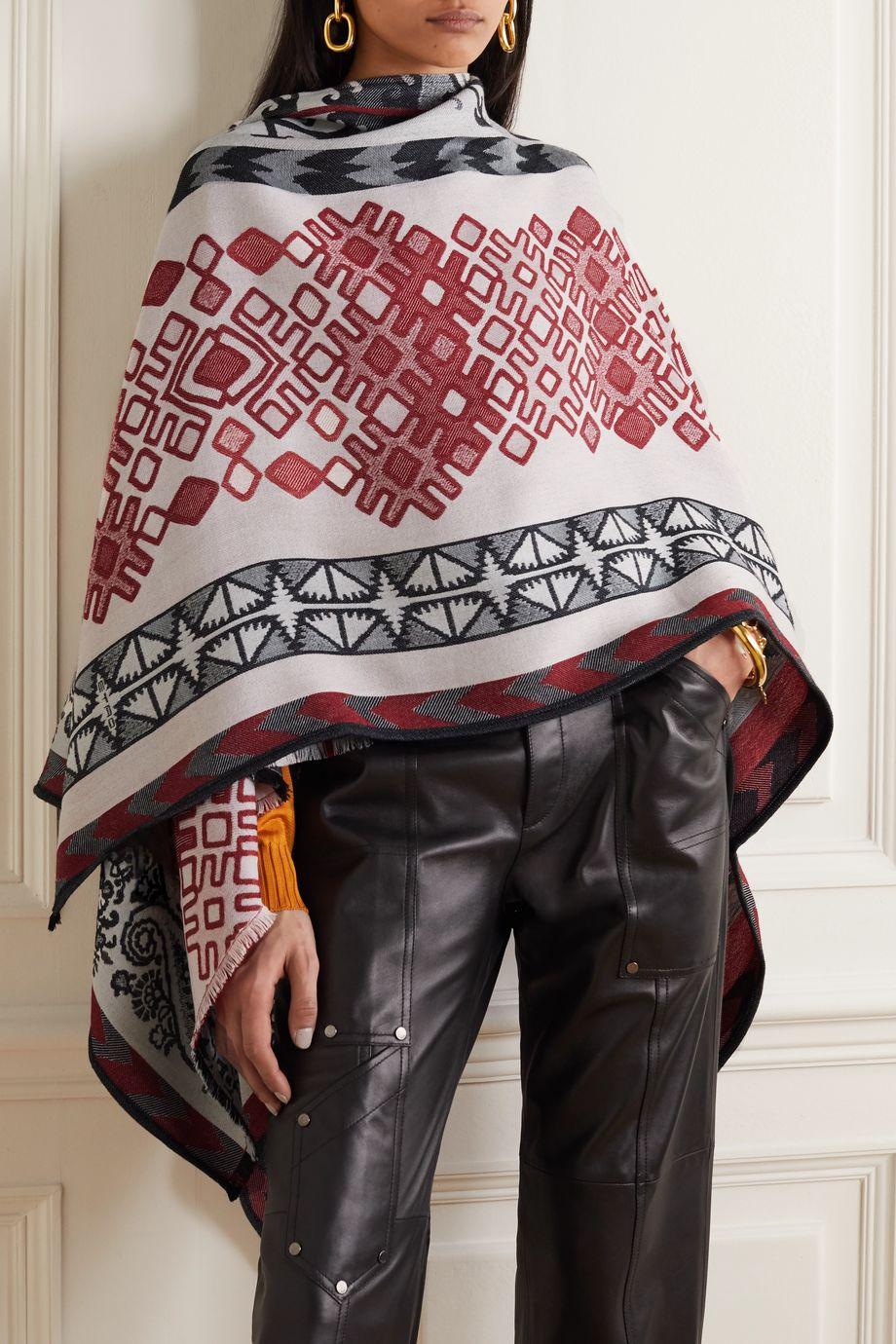 Etro Wool-blend jacquard wrap