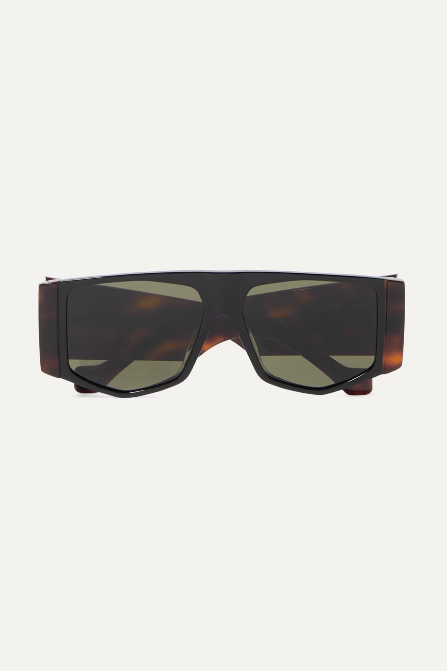 Loewe Oversized-Sonnenbrille mit sechseckigem Rahmen aus Azetat in Hornoptik