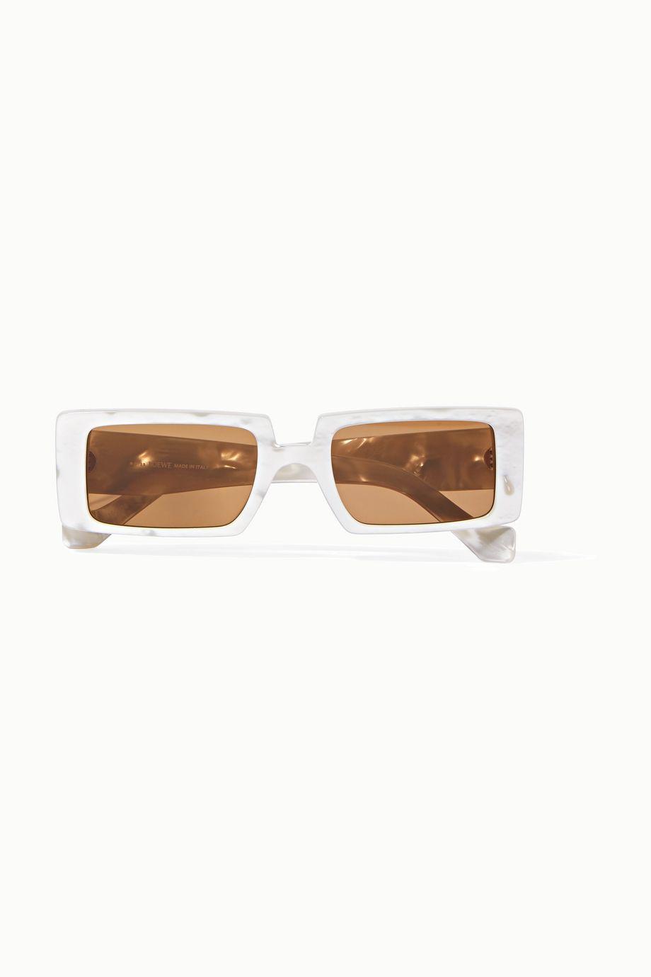 Loewe Square-frame marbled acetate sunglasses