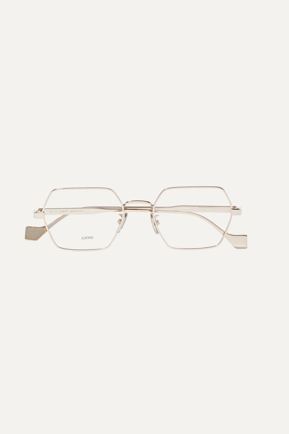 Loewe Hexagon-frame gold-tone optical glasses