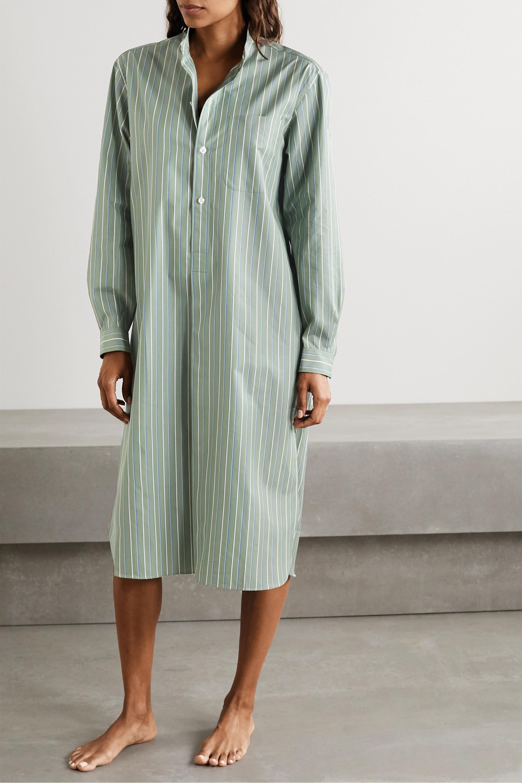 Charvet Nachthemd aus gestreifter Baumwollpopeline