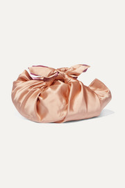 Notto knotted silk-satin tote