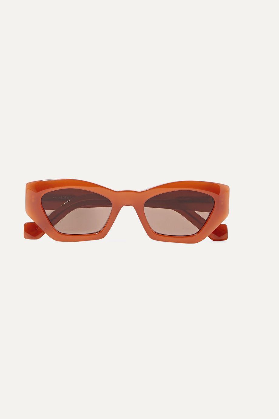 Loewe Hexagon-frame acetate sunglasses