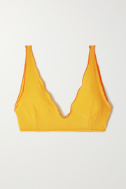 Baserange + NET SUSTAIN Pam two-tone ribbed stretch-organic cotton soft-cup bra