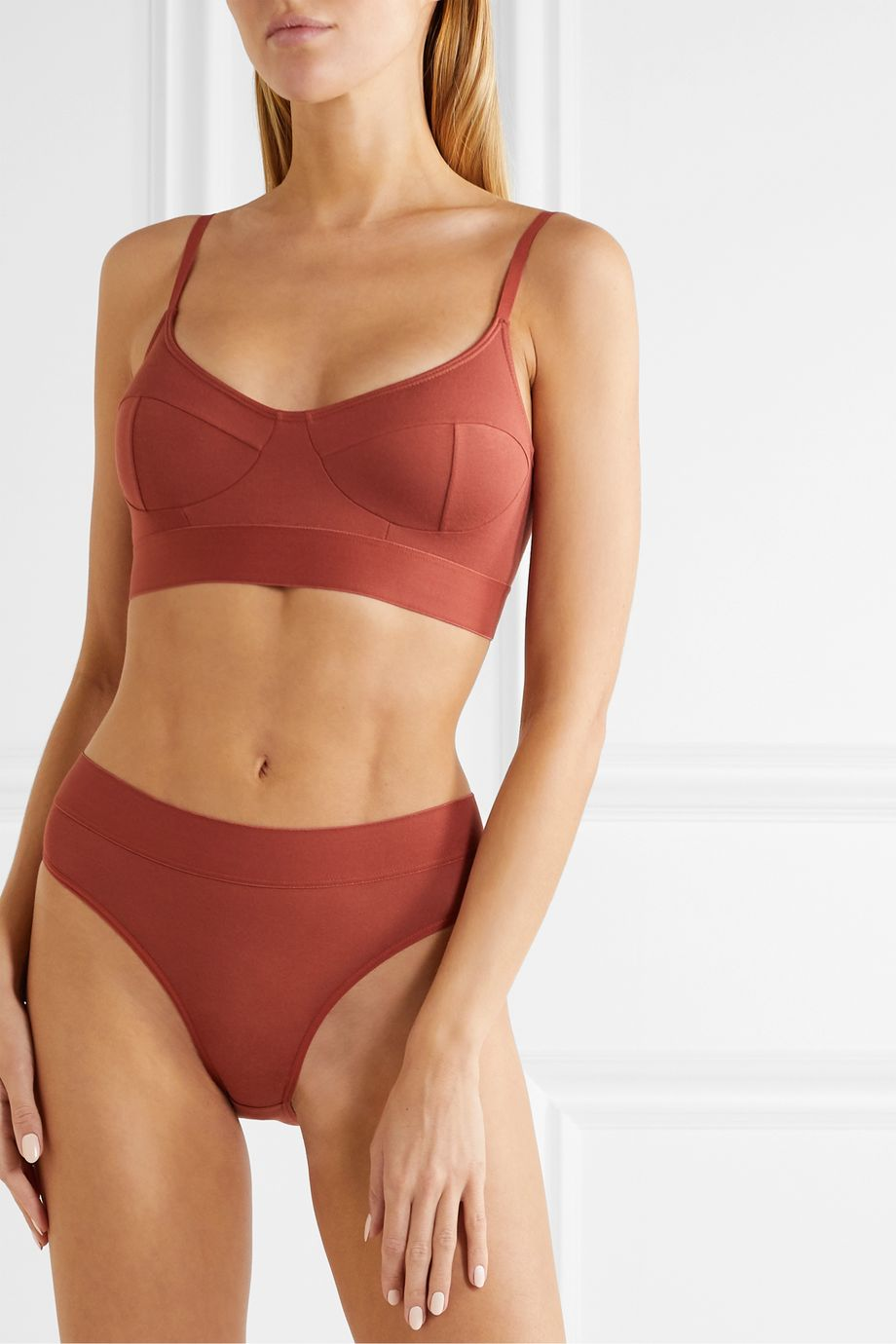 Baserange + NET SUSTAIN stretch-bamboo soft-cup bra