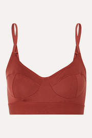+ NET SUSTAIN stretch-bamboo soft-cup bra