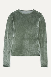 Baserange + NET SUSTAIN modal-blend velour top