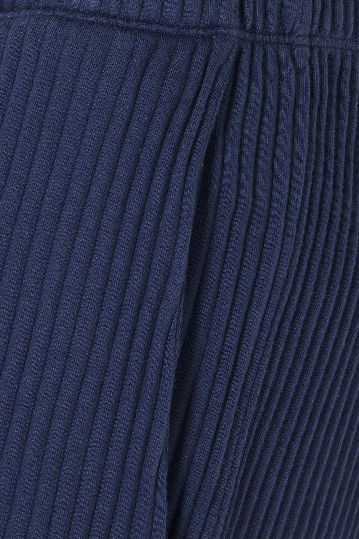 Baserange + NET SUSTAIN Gita ribbed organic cotton-fleece pants