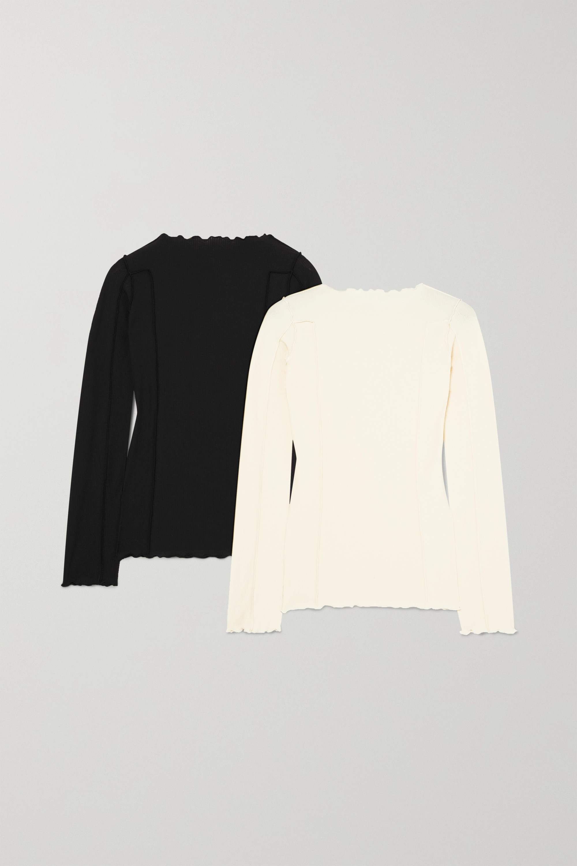 Baserange + NET SUSTAIN Omato set of two ribbed stretch organic cotton tops