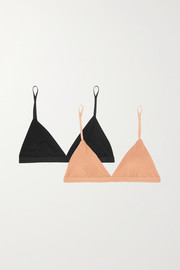 Baserange + NET SUSTAIN Mississippi set of two stretch-bamboo soft-cup bras