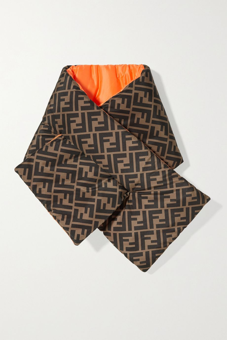 Fendi Kids Reversible printed quilted shell scarf