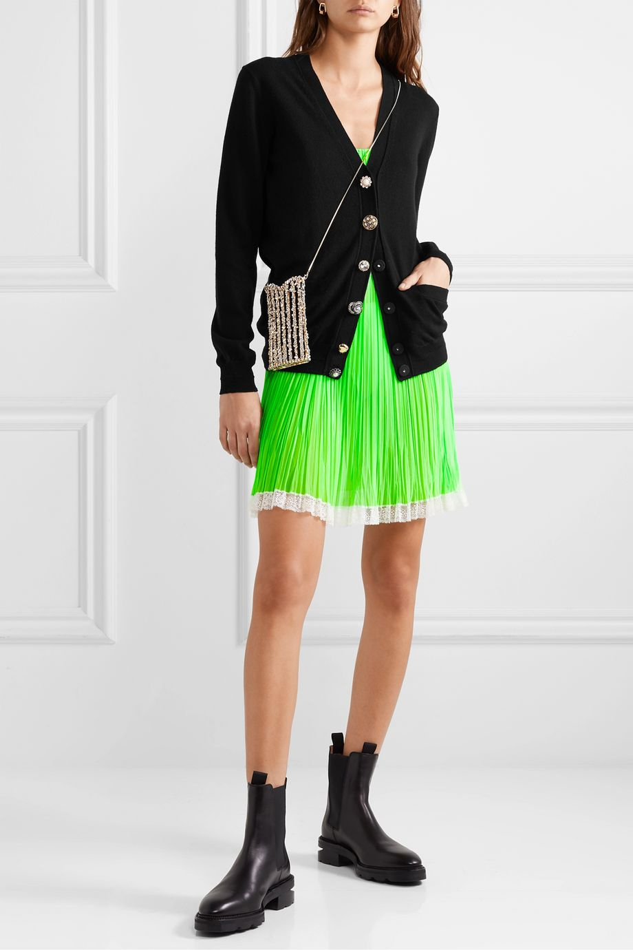 THE Marc Jacobs Embellished wool and cashmere cardigan